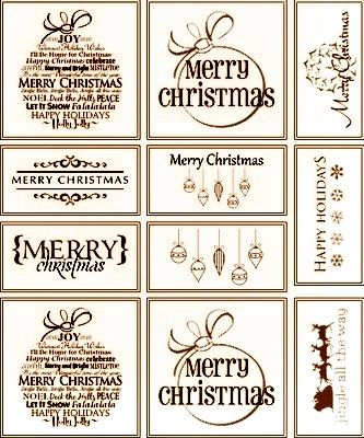 Rustic Christmas gift tags and labels Free printable Rustic