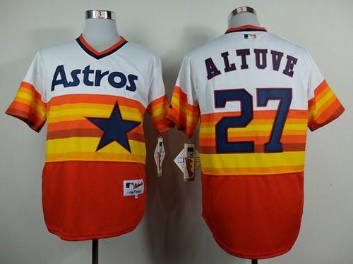 promo code 95a7e a0b4b Houston Astros #27 Jose Altuve 1979 Rainbow Jersey   MLB ...
