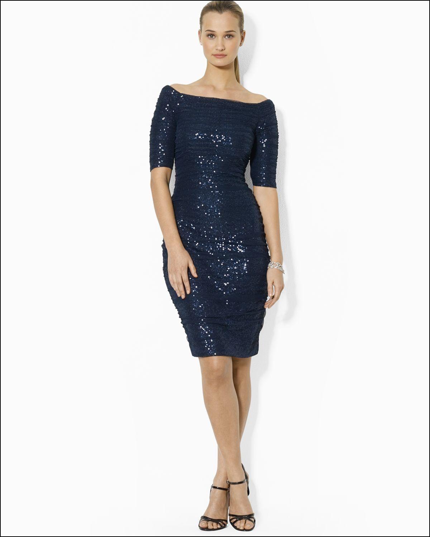 Lauren Ralph Lauren Bateau Neck Sequin Lace Gown | Dresses and Gowns ...