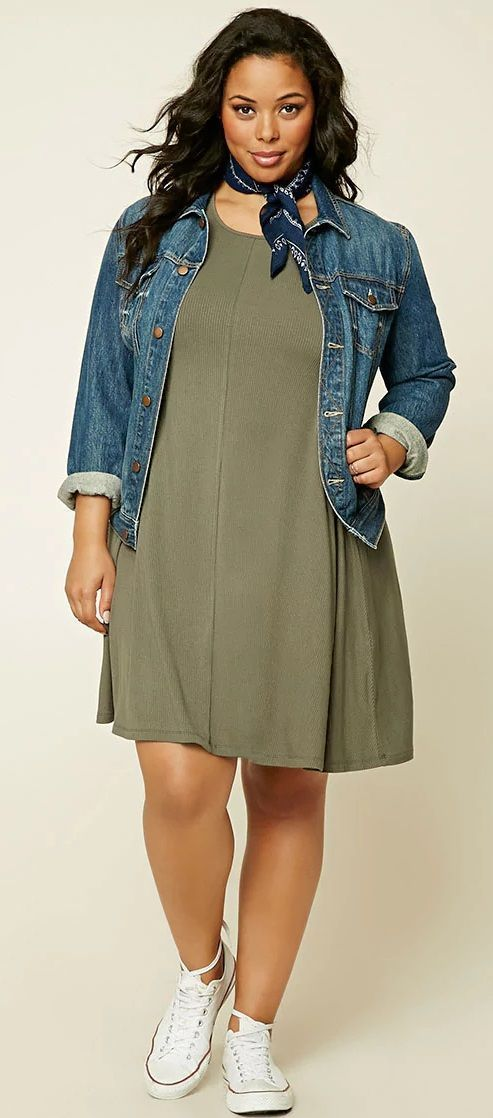 Forever 21 Forever 21 Plus Size Ribbed Swing Dress In 2018