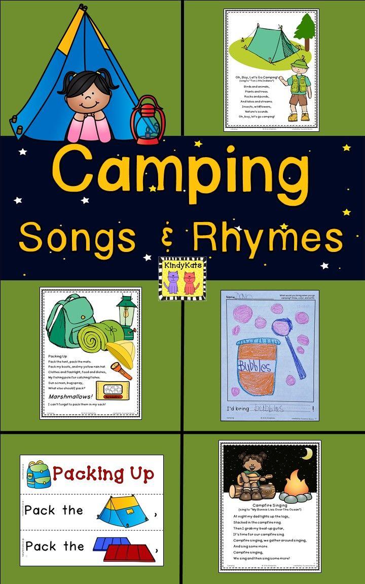 Camping Songs And Rhymes Preschool Camping Activities Camping Theme Classroom Camping Theme Preschool