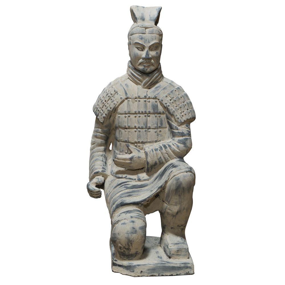Kneeling Archer Sculpture Replica Terracotta Warriors of China