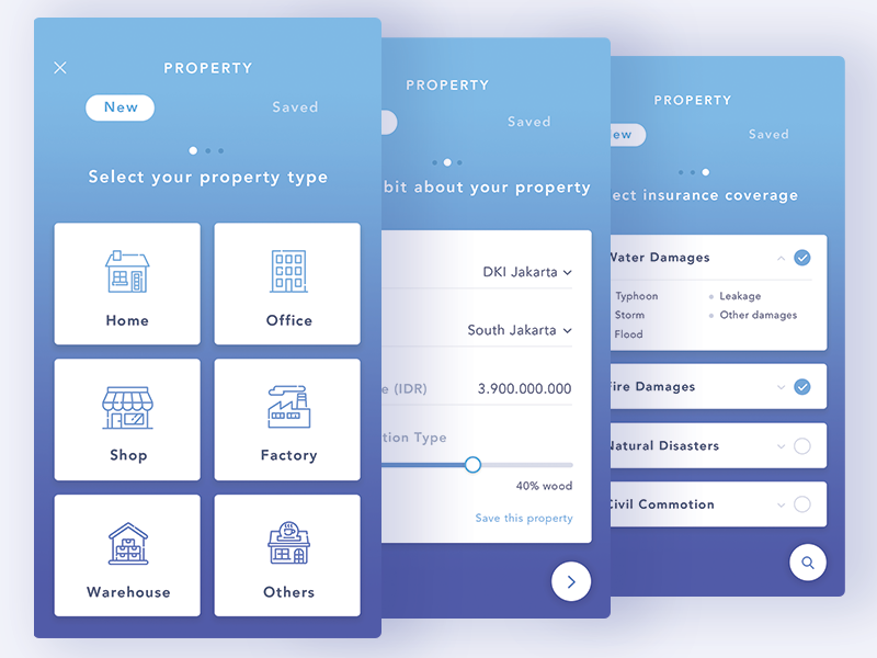 Property Insurance Step By Step Form App Templates Ideas Of App Templates Apptemplates Property In 2020 App Interface Design Banking App Mobile App Templates