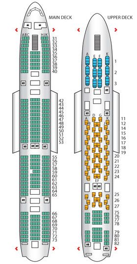 Thai Airway S A380 Seats 435 Economy Passengers Taking Up The