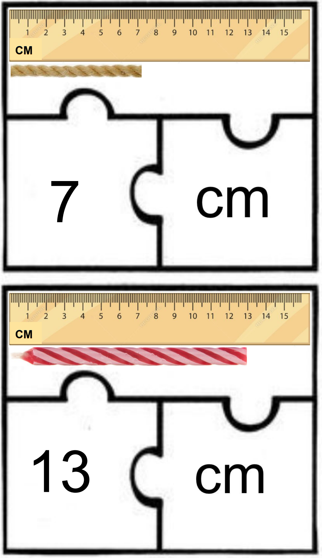 Centimeter Puzzles With Recording Worksheet Booklet In