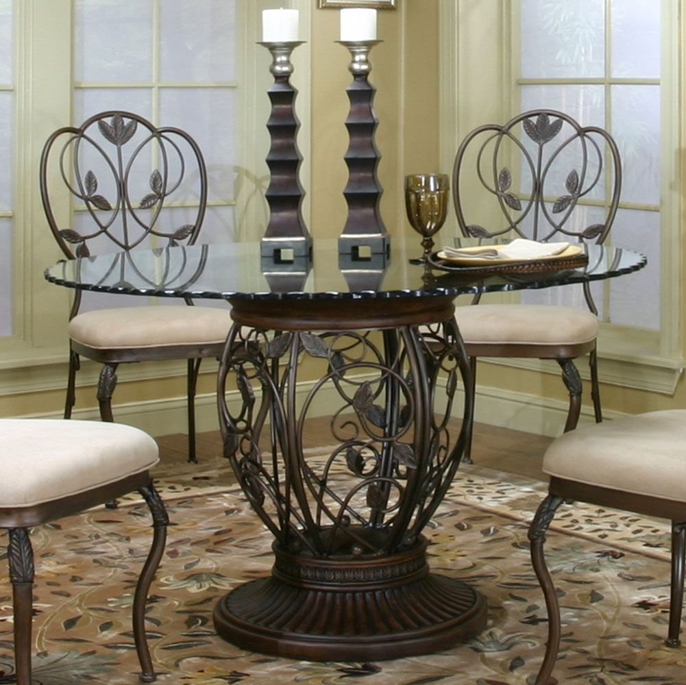 Beautiful Wrought Iron Kitchen Table And Chairs Wrought Iron Dining Table Glass Round Dining Table Glass Dining Table Decor