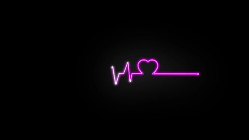Abstract Seamless Line Heart Beat. Stock Footage Video