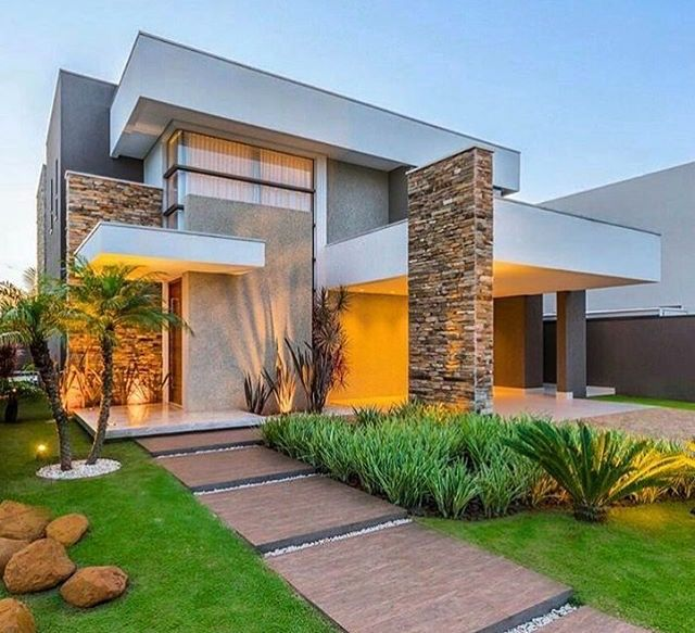 viviendas modernas fachadas modernascasas - Fachadas Modernas De Casas