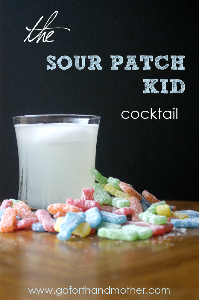 This sour patch kid cocktail is super tasty - a little bit sweet + sour!