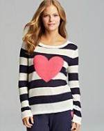 A Kiss of Bliss: Heart Striped Pullover by PJ Salvage