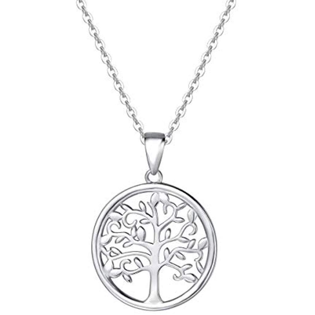 Schöner Anhänger Lebensbaum Silberne Halskette mit Baum des Lebens
