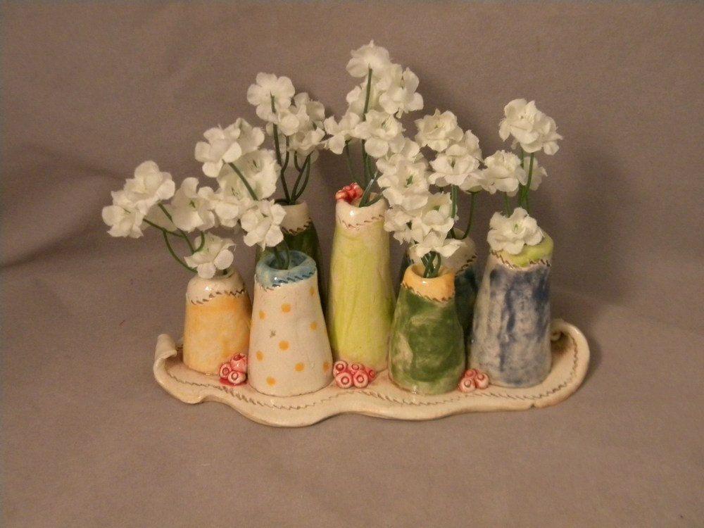 Mini Vase in Multi Colors by joycepottery on Etsy, $37.00