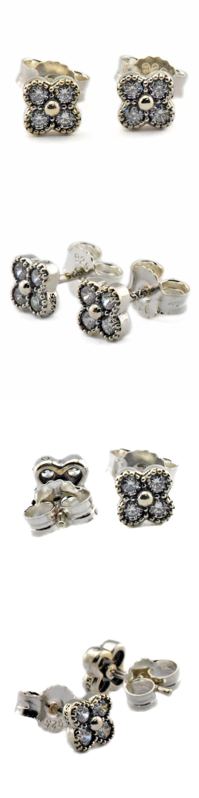 925 Sterling Silver Jewelry CKK Stud Earrings for Women DIY