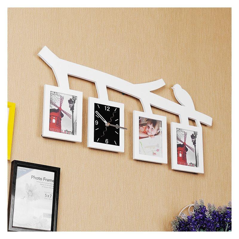 Moderne Wanduhr Zweig Vogel Design im Wohnzimmer
