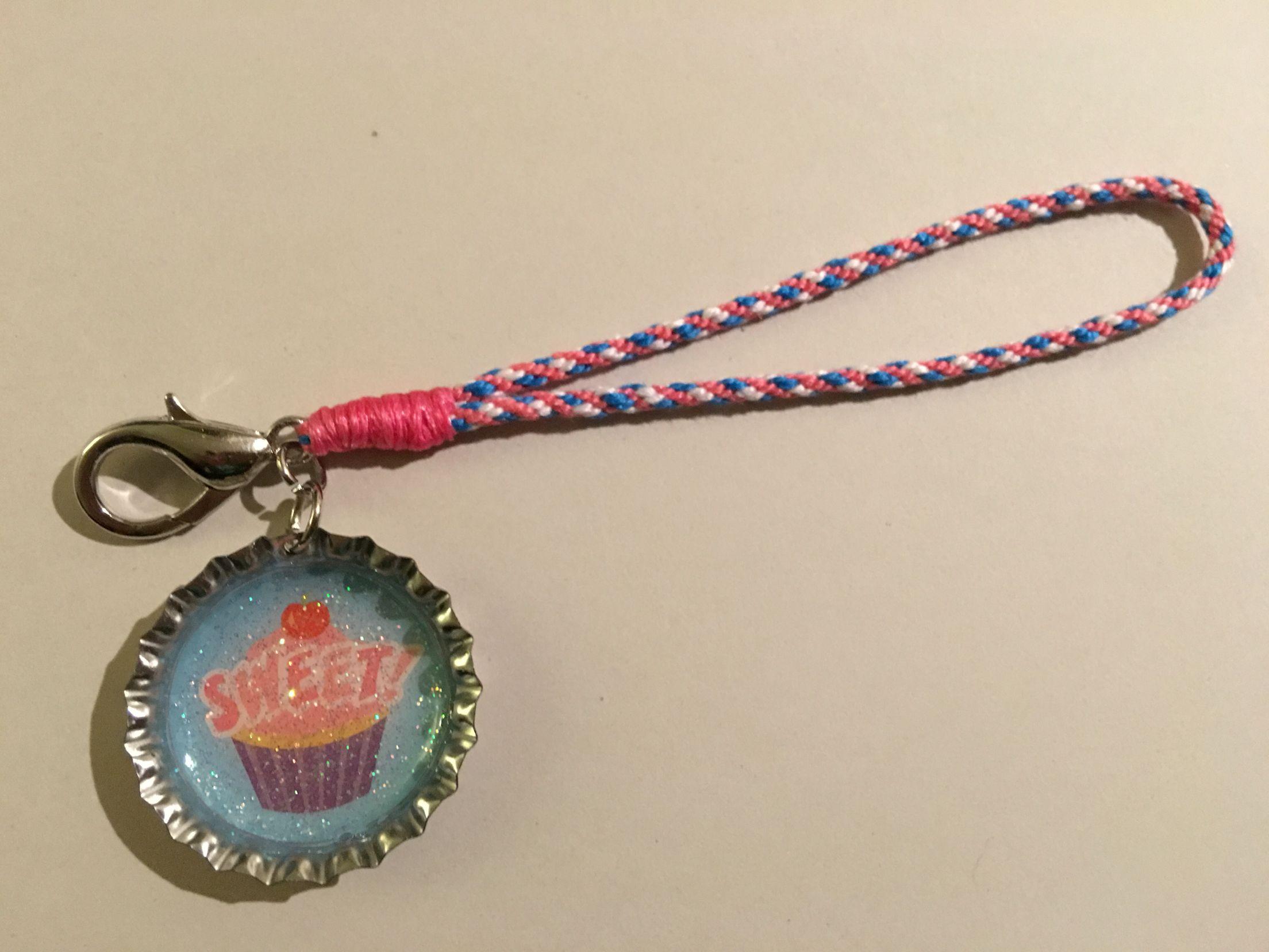 Handmade kumihimo keychain made by Mario H Lopez