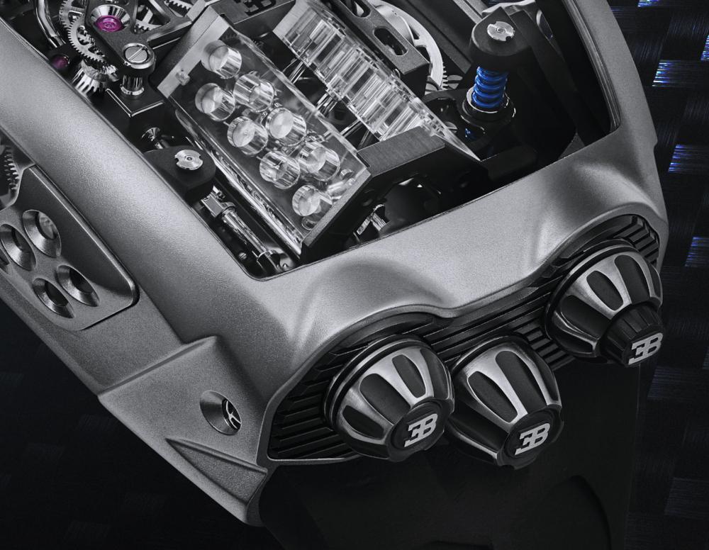 Jacob & Co. Bugatti Chiron Tourbillon Encapsulates A Working W16 Engine | aBlogtoWatch