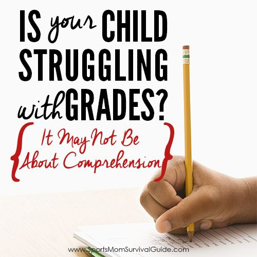Is your Child Struggling with Grades? It may not be about comprehension, there may be a simple step that they are missing to solve the grade struggle.