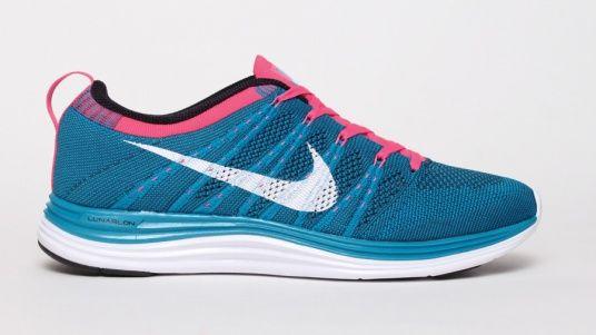 hot sale online 96527 ebd37 Running shoes · Flyknit Lunar 1+ - Blue Pink