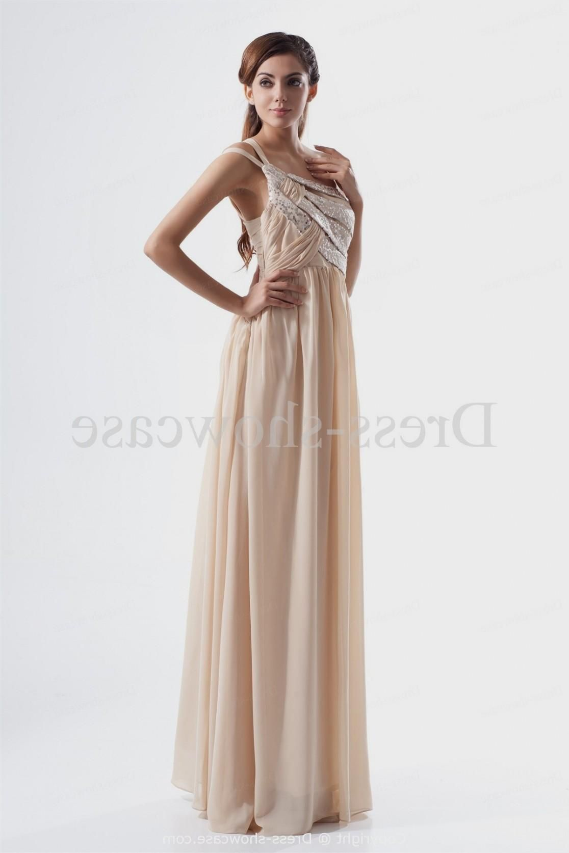 beige-pleats-one-shoulder-sleeveless-sheath-column-prom-dress.jpg (1116×1674)