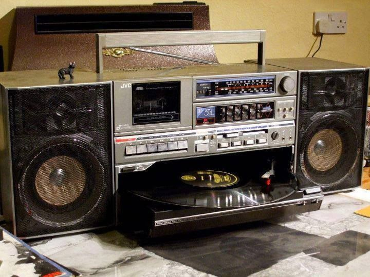 JVC record player boombox