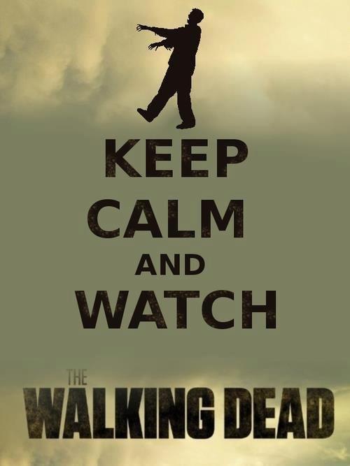 Mantenha-se calmo e assista The Walking Dead :)