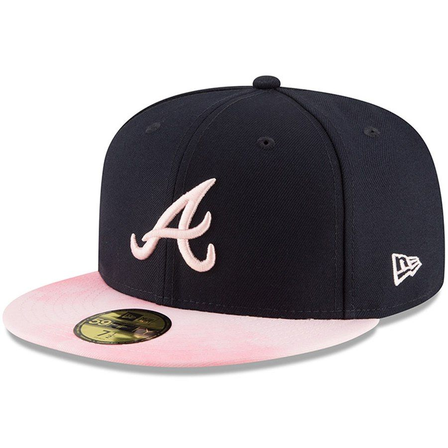 2717ec443a605 Atlanta Braves New Era 2019 Mother s Day On-Field 59FIFTY Fitted Hat - Navy