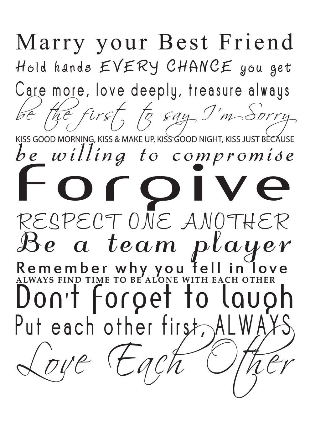 Removable Surface Art Marry Your Best Friend Husband Quotes Words Marry Your Best Friend