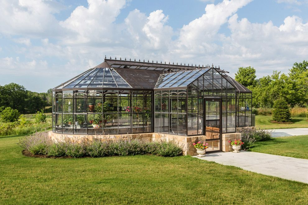 Greenhouse Design Ideas Garage and Shed Traditional with Backyard ...