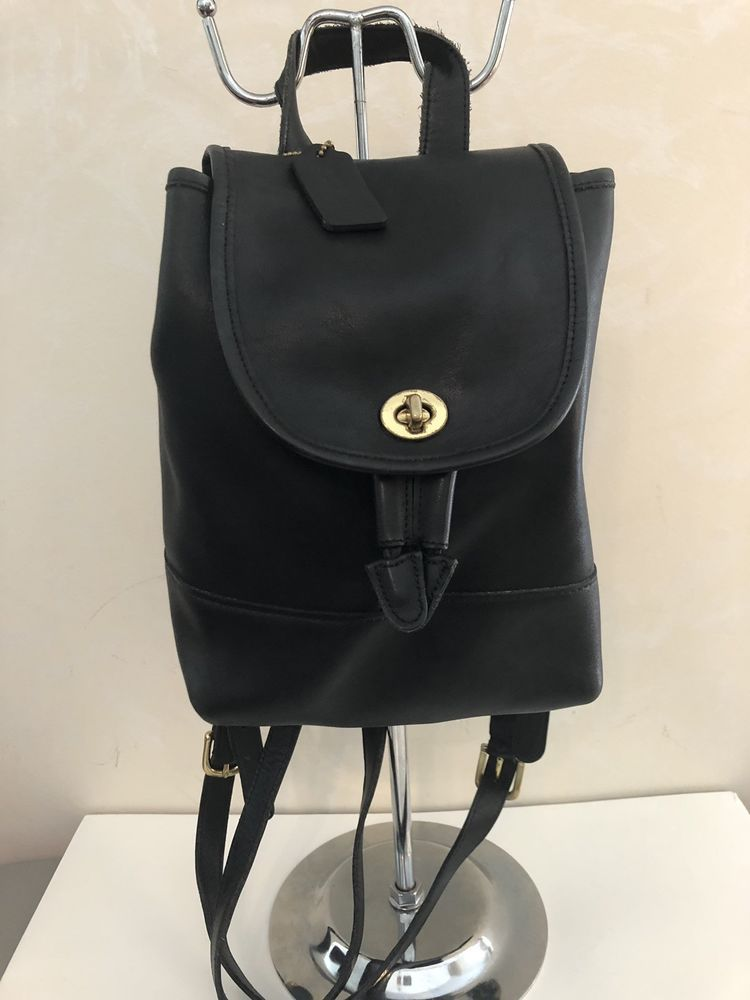 e7c72d53ea COACH VINTAGE SOFT BLACK LEATHER DRAWSTRING BACKPACK 9960 PRE-OWNED   79.99  End Date  Tuesday Nov-20-2018 11 47 32 PST Buy It Now for only …