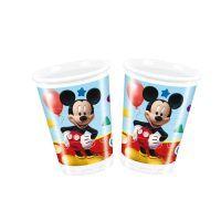 Gobelet Mickey Mouse Disney verre plastique enfant rouge