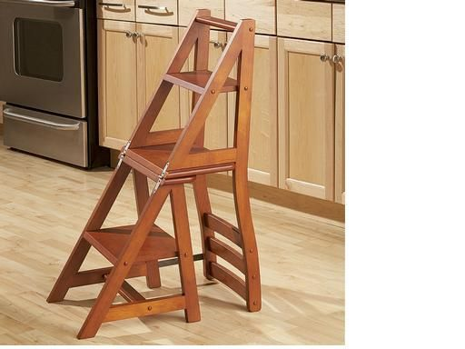 Franklin Chair Step Ladder Kitchen Step Stool Folding Step