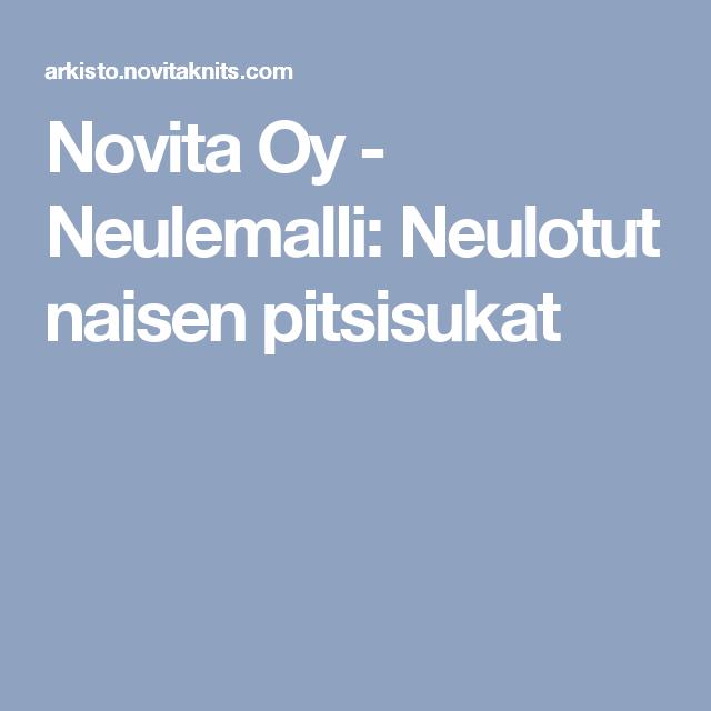 Novita Oy - Neulemalli: Neulotut naisen pitsisukat