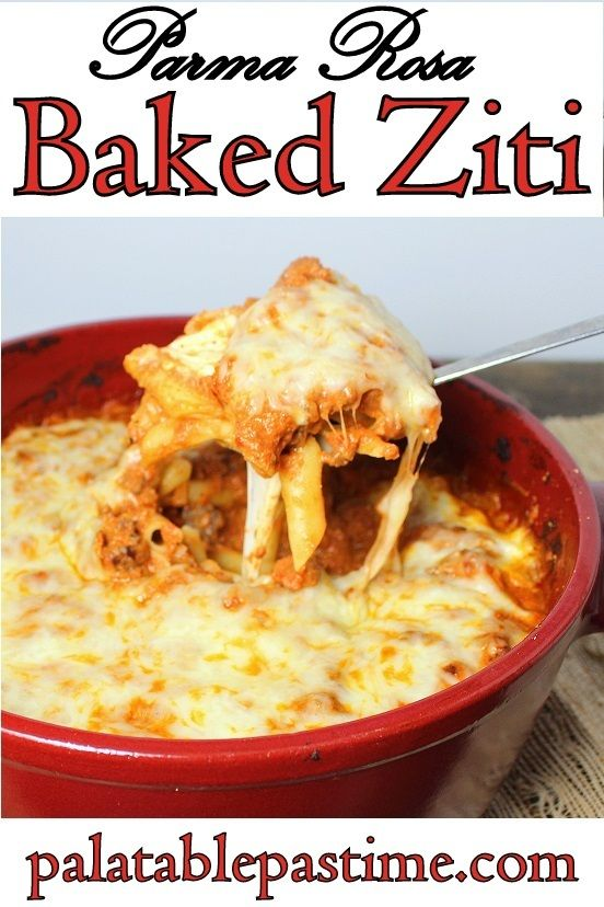 This simple baked ziti recipe with parma rosa sauce is a perfect this simple baked ziti recipe with parma rosa sauce is a perfect italian pasta comfort food forumfinder Choice Image