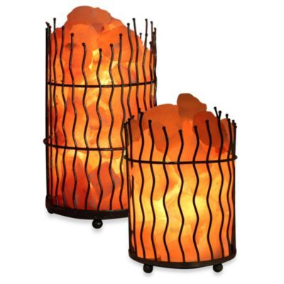 Wbm himalayan iconic crystal pillar salt basket lamp bed bath beyond