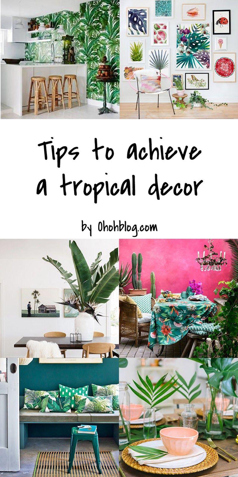 Miami Inspired Tropical Decor Ideas Ohoh Deco Tropical Home Decor Tropical Decor Tropical Bedroom Decor