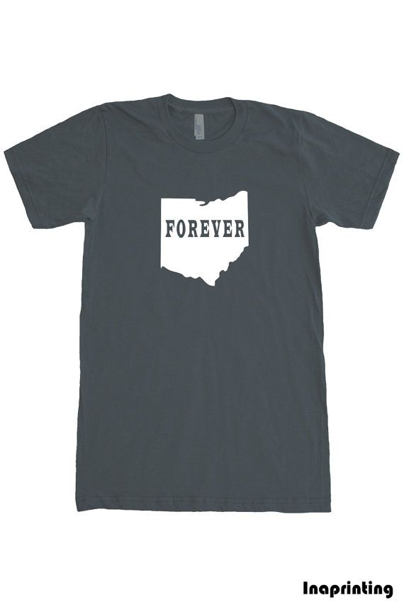 Ohio t shirt State T  Mens T shirt American Apparel by Inaprinting, $19.00