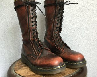 92c9fb937e1 Dr. Martens Tall Double Zip Lace Up Combat Boot / Oxblood / UK 5 / US Wms 7