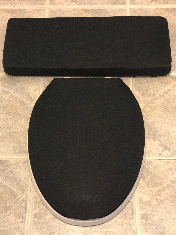 Enjoyable Solid Black Toilet Seat Lid Tank Lid Cover Set In 2019 Machost Co Dining Chair Design Ideas Machostcouk