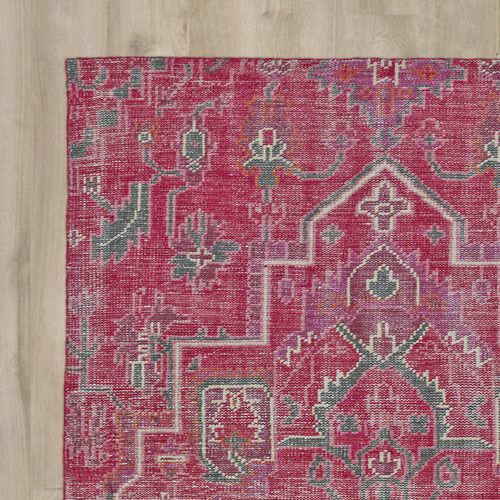 Aida Pink Oriental Wool Hand-Knotted Area Rug | Living rooms, Room ...