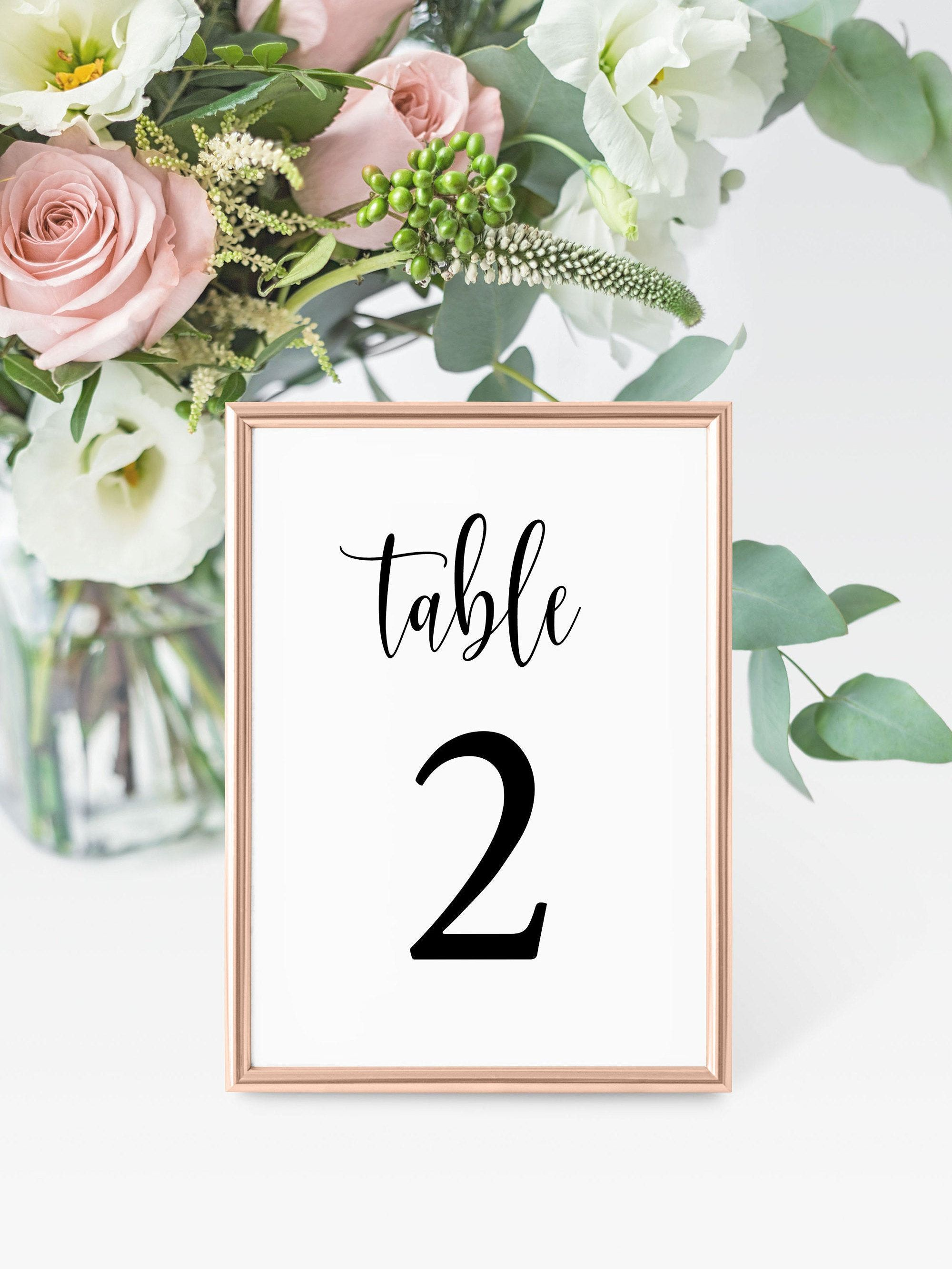 Pin On Wedding Table Numbers