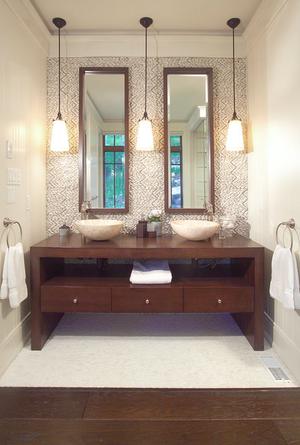 Bathroom Hanging Lights, How To Hang Bathroom Lights Over A Mirror