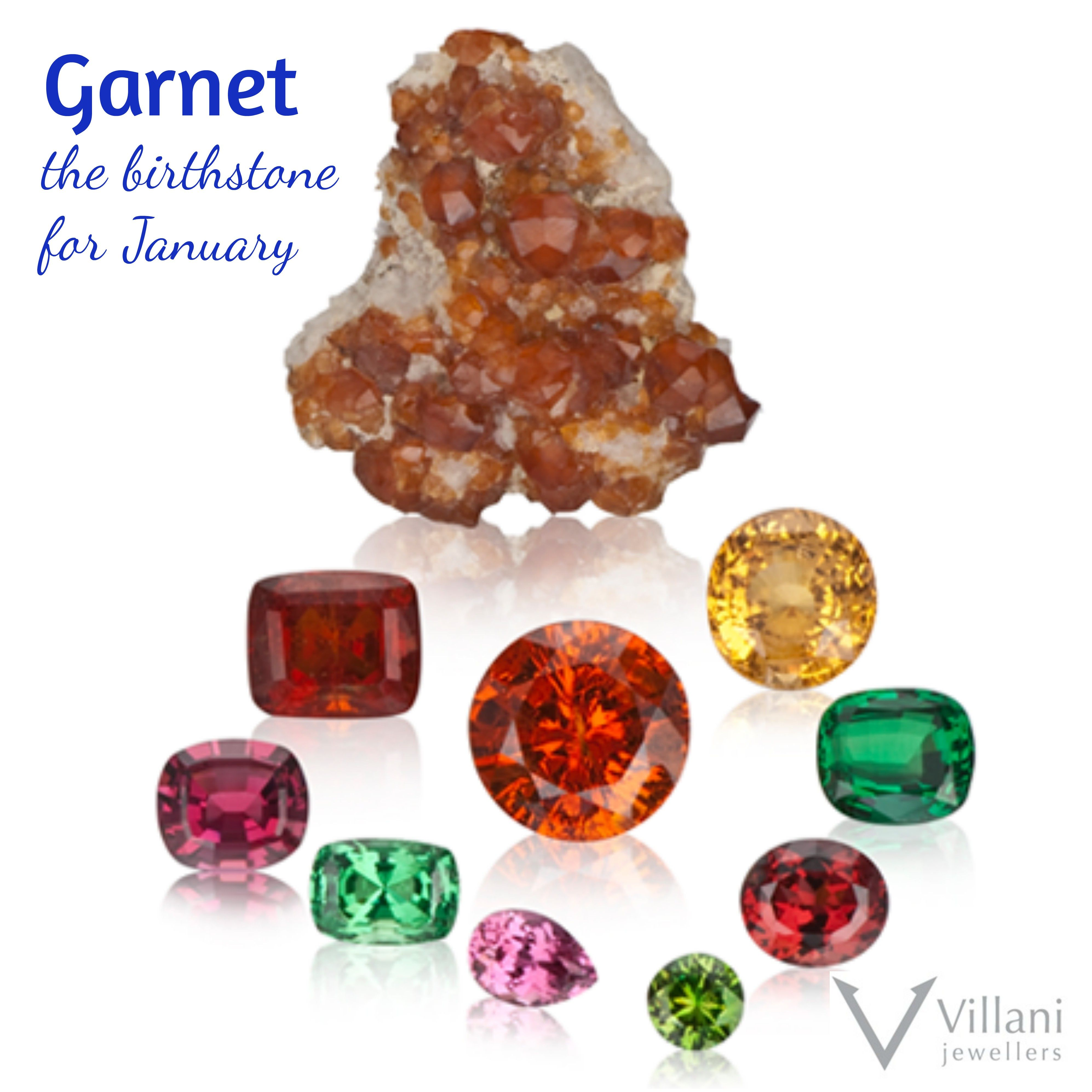 Garnet Is The Birthstone For January And Signifies Eternal Friendship And Trust Villanijewellers January Birthstones Garnet Birthstone January Birth Stone