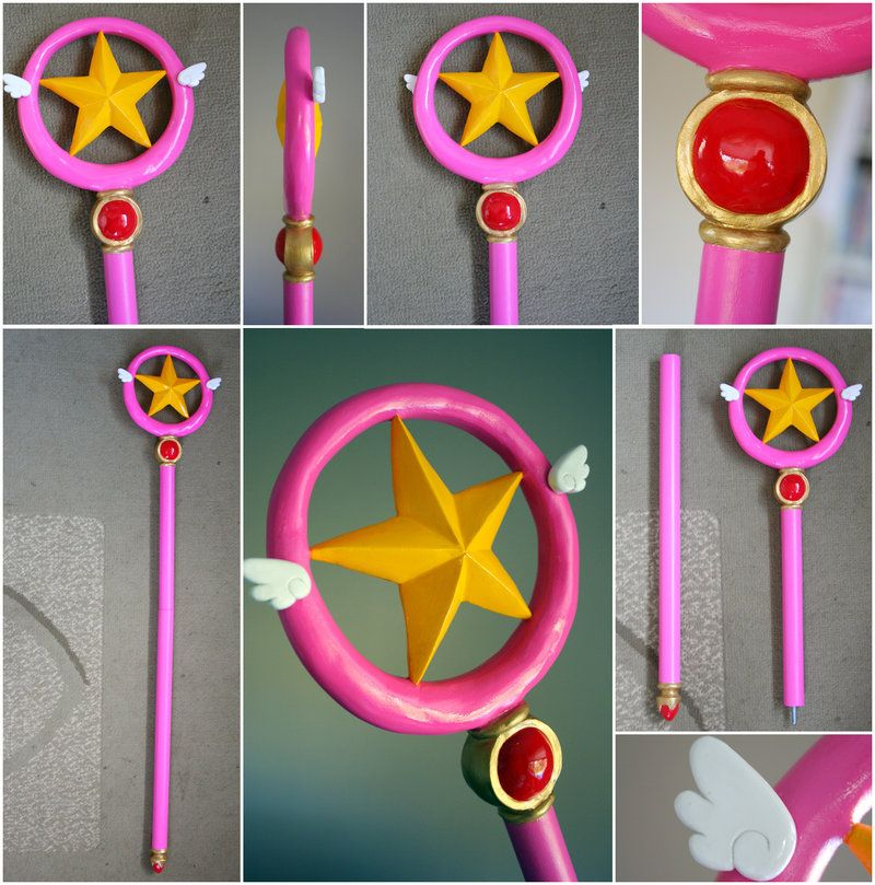 Anime Card Captor Sakura Hairpin The Clow Magic Star Wand Metal Crystal Cosplay Costumes Props Headwear Elegant In Style Novelty & Special Use