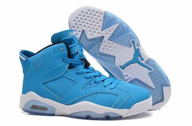 basket air jordan 6 retro,femme air jordan 6 bleu et blanche