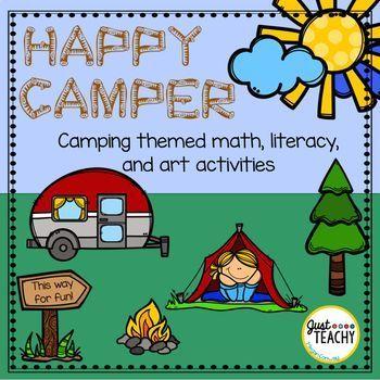 happy camper camping themed math literacy art activities just rh pinterest com