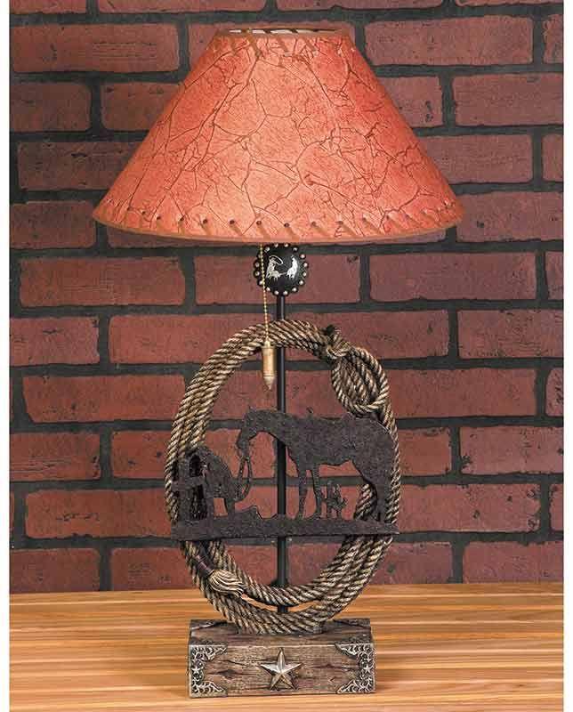 Rustic Praying Cowboy Lamp Cowboy Lamp Lamp Mini Shades