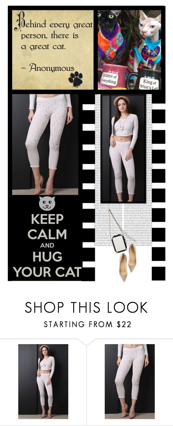 """""""Gioellia Boutique (35)"""" by irresistible-livingdeadgirl ❤ liked on Polyvore featuring Truths, white, cats, nude, Leggings and polyvorecommunity"""