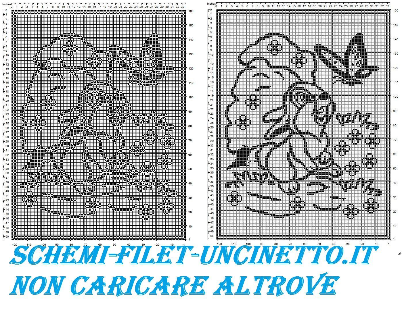 Estremamente copertina neonato tippete filet uncinetto gratis | Copertine  CC27