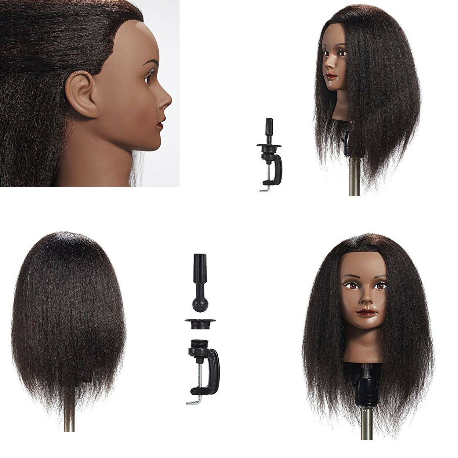 100 Human Hair Mannequin Head Can Curl Brown Hairdressing Dummy Doll Wig Head Professional Hair Sty Hair Mannequin Natural Hair Styles Professional Hairstyles