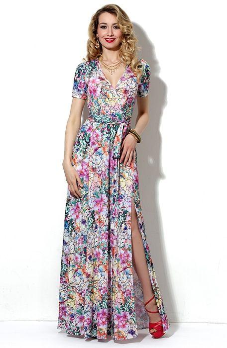 Платье длинное летнее фасон